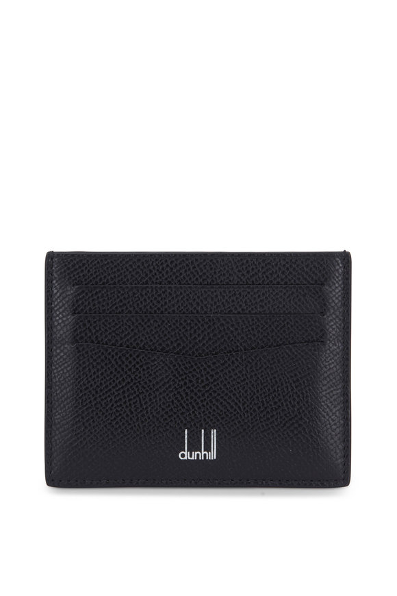 Dunhill Cadogan Black Leather Card Case