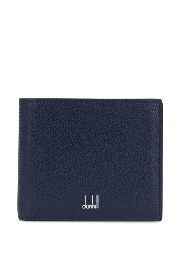 Dunhill Cadogan Navy Blue Grained Leather Billfold Wallet