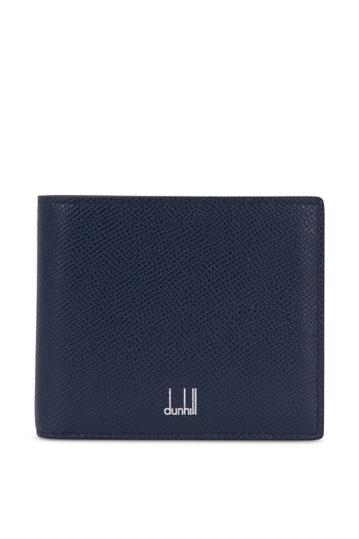 Dunhill - Cadogan Navy Blue Grained Leather Billfold Wallet