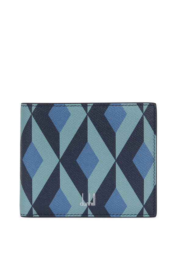 Dunhill Cadogan Blue Sonte Grained Leather Billfold Wallet