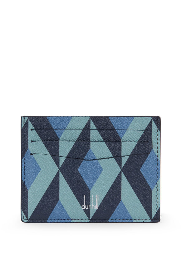 Dunhill Cadogan Stone Blue Leather Card Case
