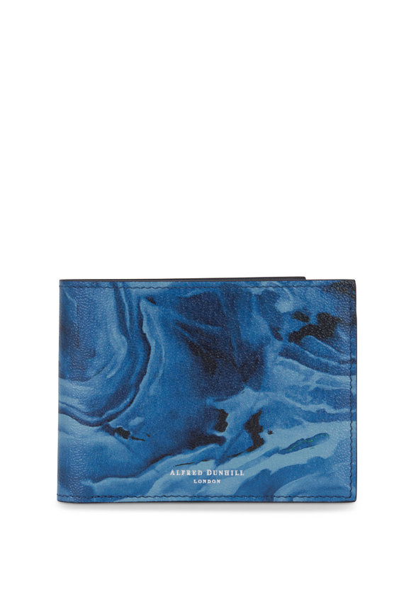 Dunhill Duke Blue Marble Leather Billfold