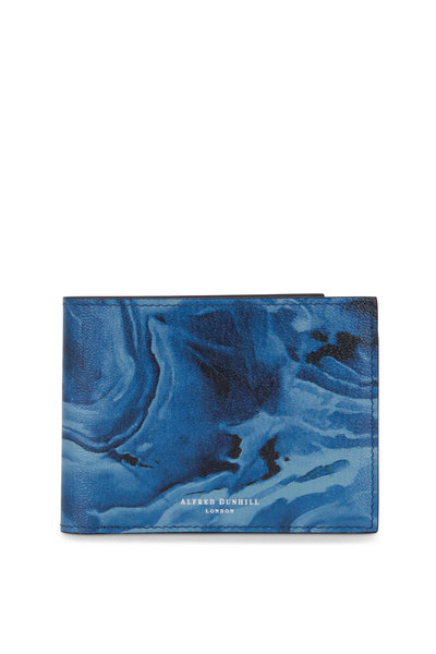 Dunhill - Duke Blue Marble Leather Billfold