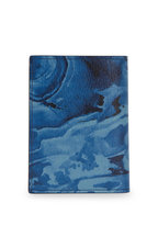 Dunhill - Duke Blue Marble Leather Cardcase
