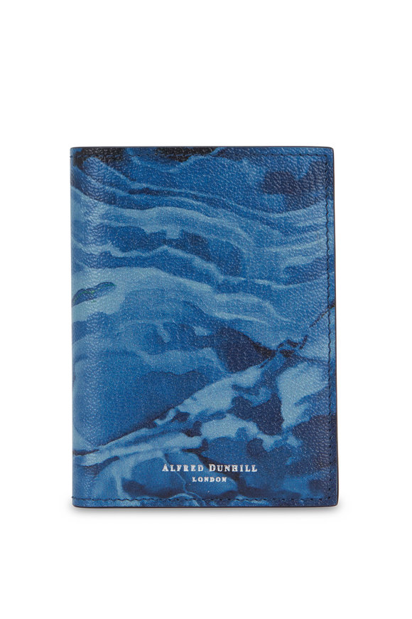 Dunhill Duke Blue Marble Leather Cardcase