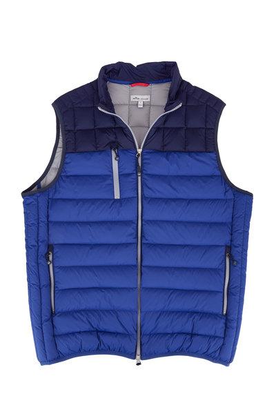 Peter Millar - Crown Elite Light Blue Colorblock Down Vest