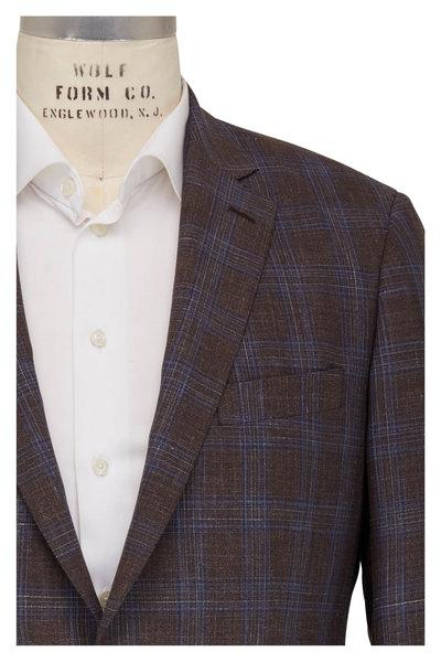 Atelier Munro - Brown & Blue Windowpane Wool Sportcoat