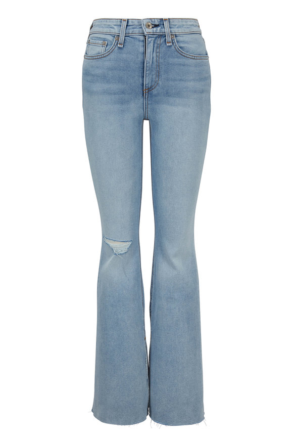 Nina Friary With Holes High-Rise Flare Jean