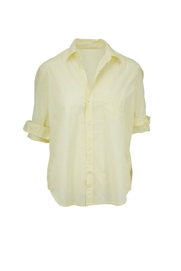 Frank & Eileen Eileen Yellow Soft Poplin Button Down