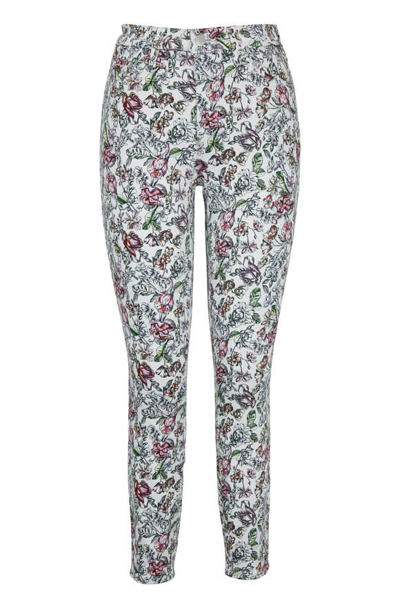 207758a02a52 L Agence Margot Floral Print High-Rise Ankle Jean