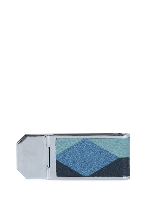 Dunhill Cadigan Blue Geometric Money Clip