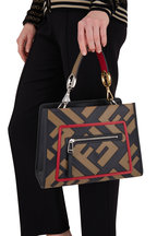Fendi - Runaway Black Leather Century Mix Small Bag