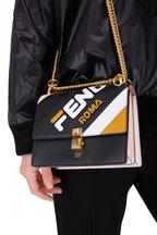 Fendi - Kan l Light Pink Multi Leather Logo Crossbody