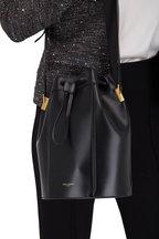 Saint Laurent - Talitha Black Leather Medium Bucket Bag
