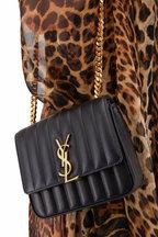 Saint Laurent - Vicky Black Quilted Leather Medium Crossbody