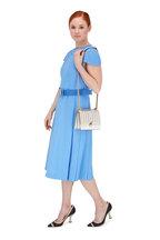 Fendi - Kan I White Laser-Cut Leather Chain Small Bag