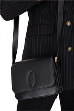 Saint Laurent - Besace Le 61 Black Leather Small Saddle Bag