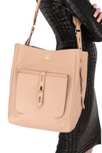 Tom Ford - Oat Leather Medium Hobo Bag
