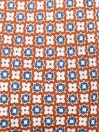 Ermenegildo Zegna - Orange & Blue Floral Silk Necktie