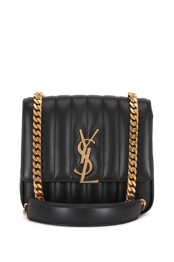 5737fbfd5 Saint Laurent Vicky Black Quilted Leather Medium Crossbody