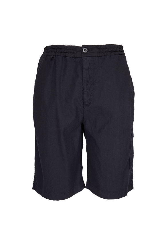 CP Company Gray Linen & Cotton Bermuda Shorts