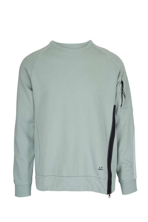 CP Company Green Side Zip Sweatshirt