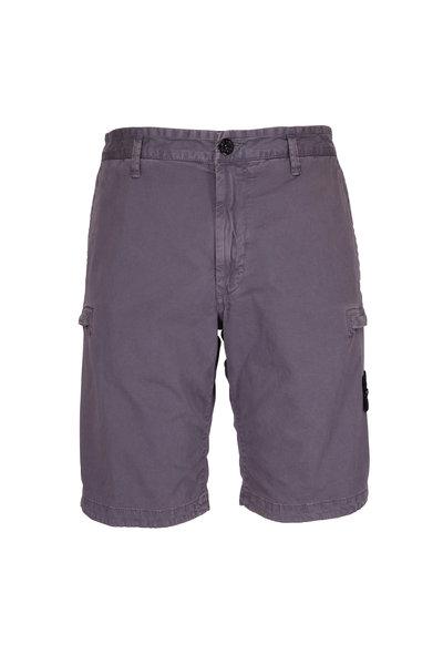 Stone Island - Grey Bermuda Cargo Shorts