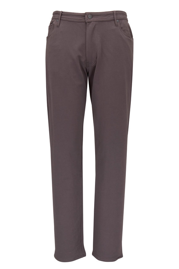 Swet Tailor Gray Cotton Knit Five Pocket Pant