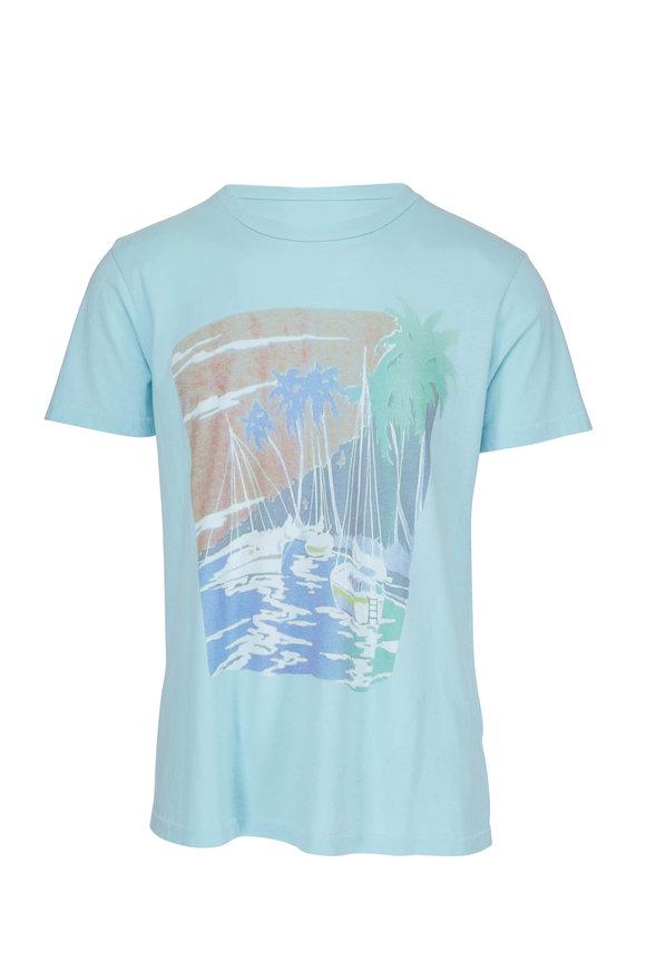 Sol Angeles Two Harbors Blue Crewneck T-Shirt