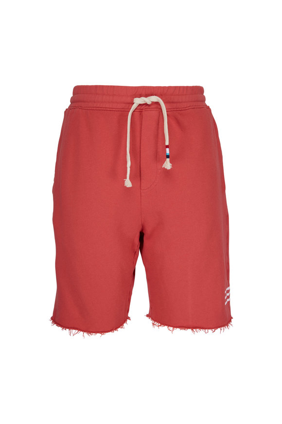 Sol Angeles Sunset Red Striped Raw Hem Shorts