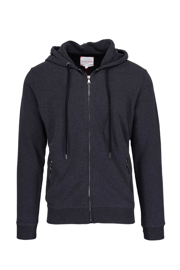 Derek Rose Devon Charcoal Grey Hoodie