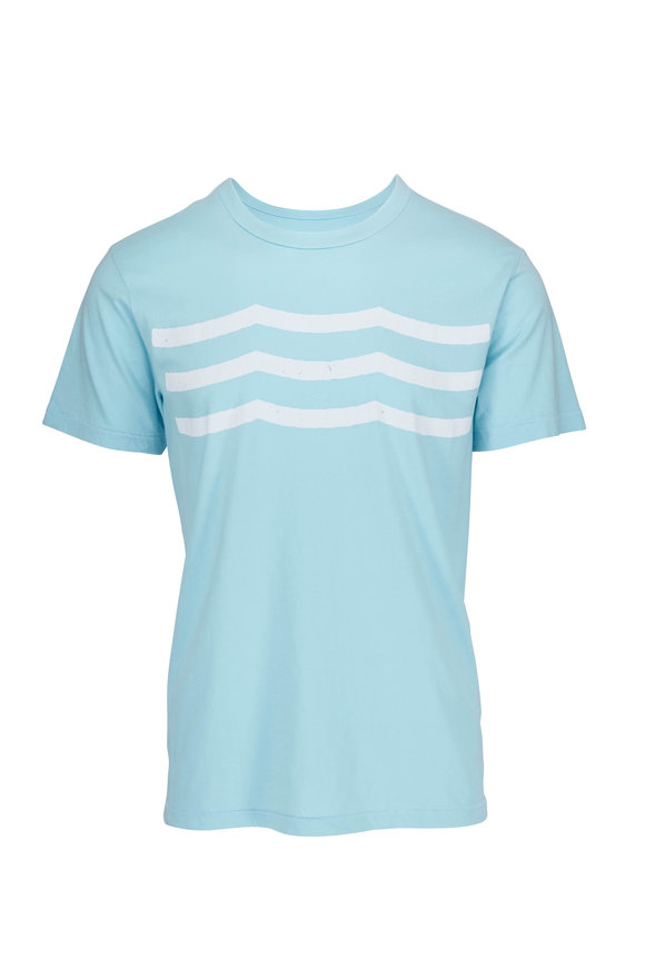 Sol Angeles Waves Pool Blue Crewneck T-Shirt