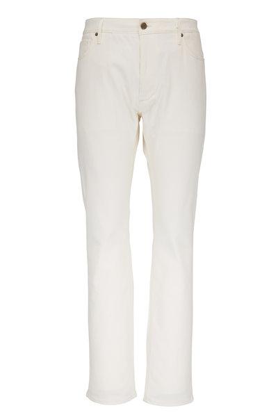 Atelier Munro - Off White Slim Five Pocket Pant