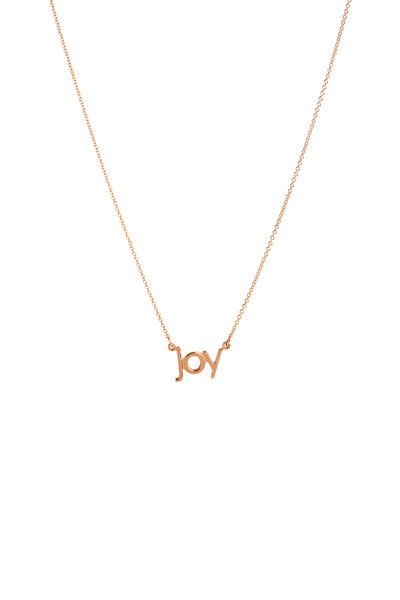 Genevieve Lau - 14K Rose Gold Joy Necklace