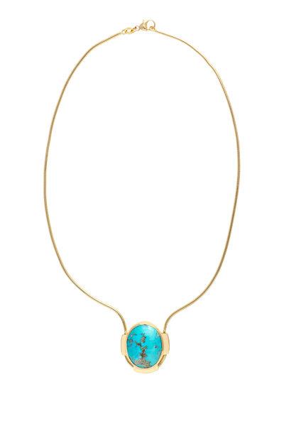 Haute Victoire - 18K Yellow Gold Turquoise Pendant Necklace