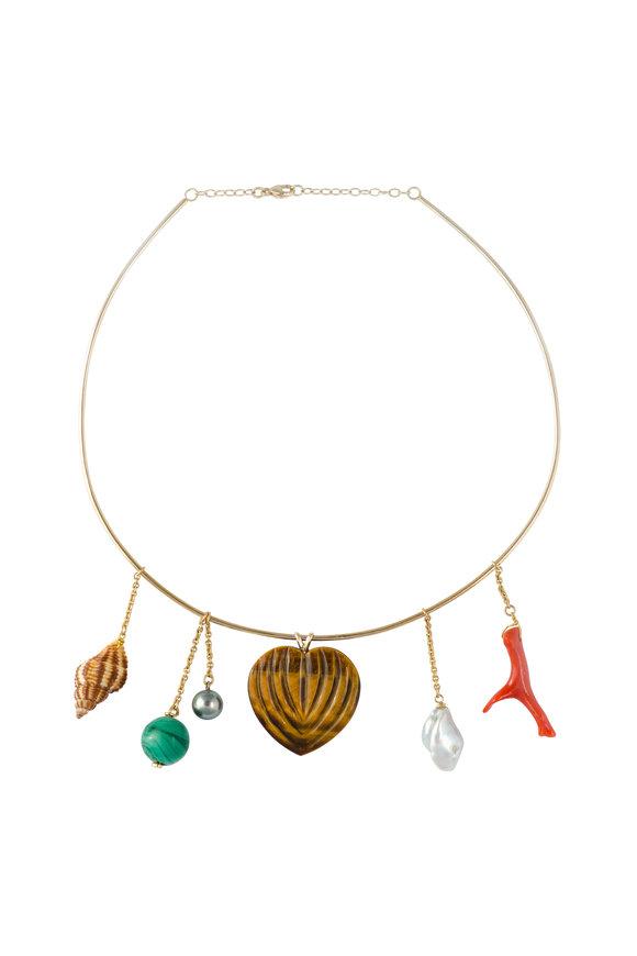 Haute Victoire 18K Yellow Gold Vintage Charm Necklace