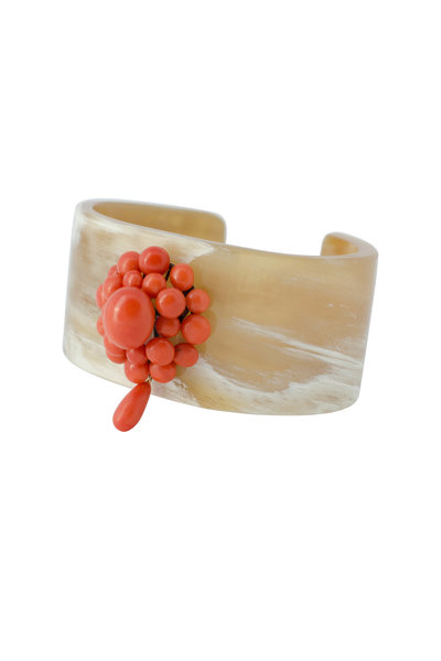 Haute Victoire - Horn With Vintage Coral Cuff