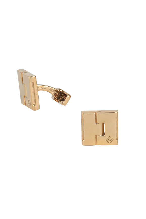 Dunhill Duke Hinge Gold Plated Cuff Links