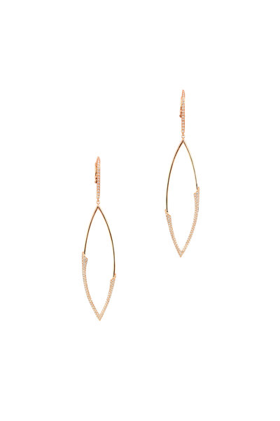 Etho Maria - 18K Yellow Gold Diamond Dangle Earrings