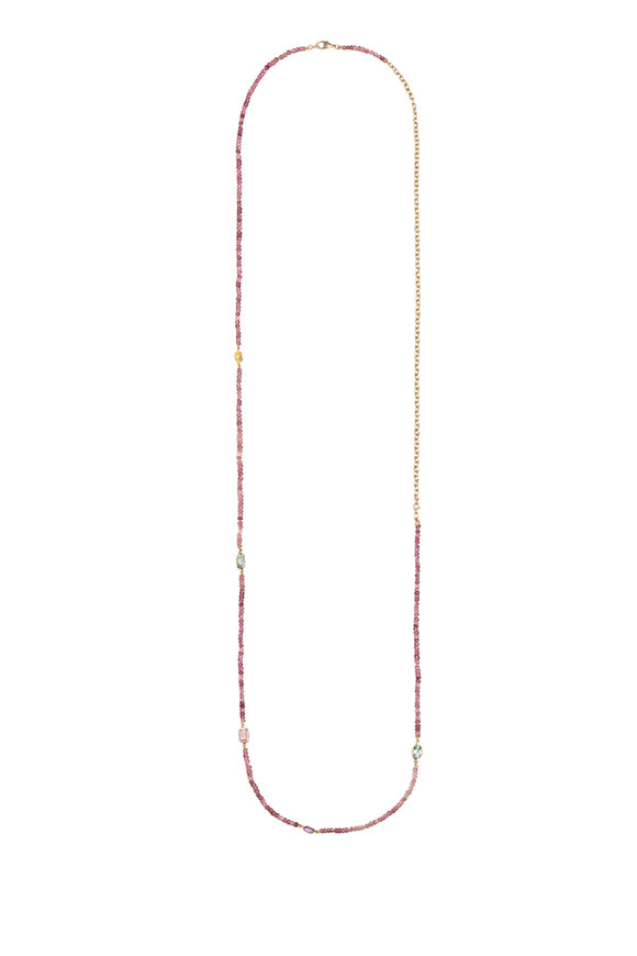 Objet-A 18K Yellow Gold Bead & Gem Chain Necklace