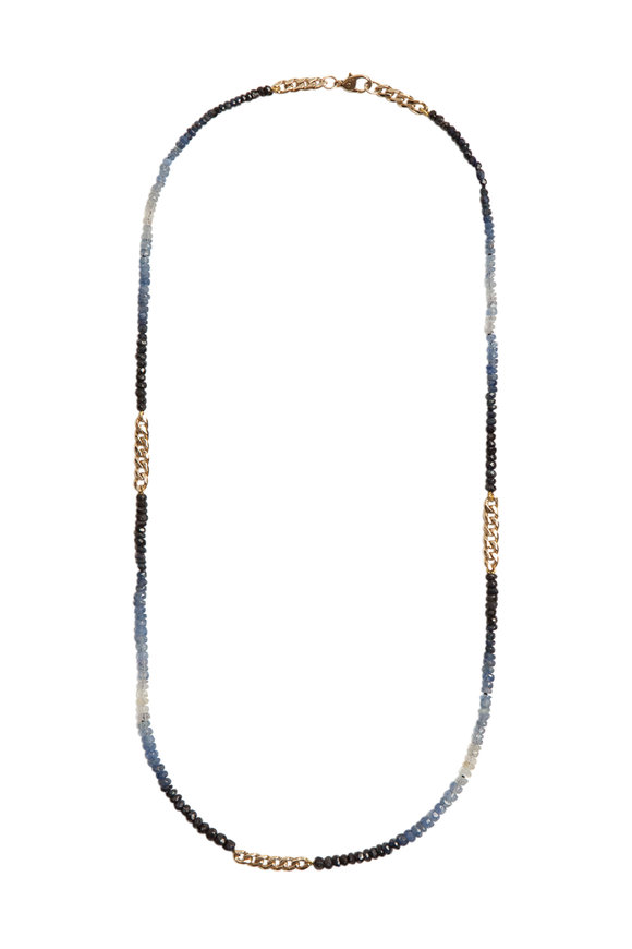 Objet-A 18K Yellow Gold Ombre Sapphire Chain Necklace