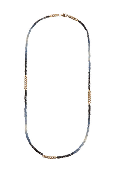 Objet-A - 18K Yellow Gold Ombre Sapphire Chain Necklace