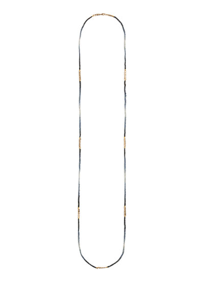 Objet-A - 18K Yellow Gold Ombre Sapphire Necklace