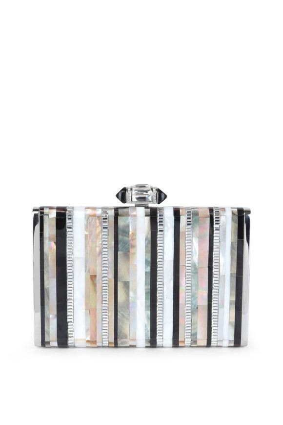 Judith Leiber Multi-Color Abalone Shell & Crystal Evening Bag