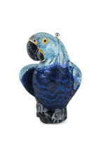 Judith Leiber - Blue Crystal Parrot Evening Bag