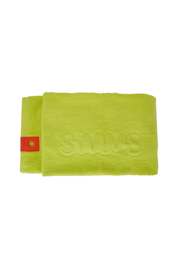 Swims Limeade Cotton Beach Towel