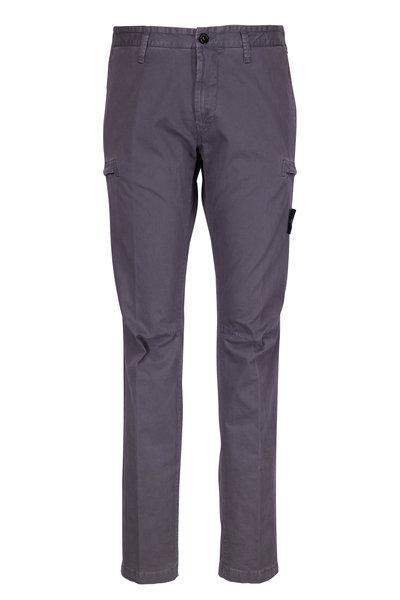 Stone Island - Grey Stretch Cotton Slim Cargo Pant