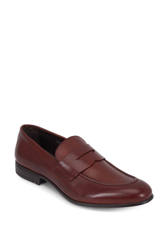 G Brown Cannon Rust Leather Penny Loafer