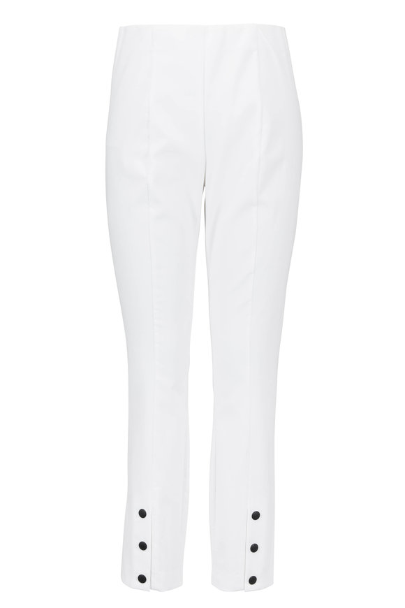 Rag & Bone Simone White Stretch Cotton Ankle-Snap Pant