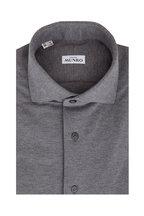 Atelier Munro - Medium Gray Piqué Sport Shirt